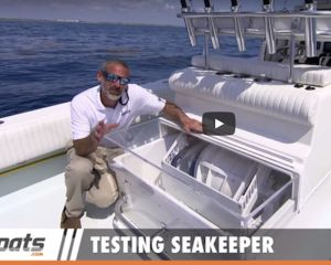 Seakeeper boat stabilisation video demo