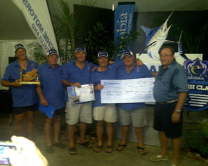 THE RIVIERA 3350 HOOKS A PRIZE CATCH AT THE BILLFISH COMPETITION